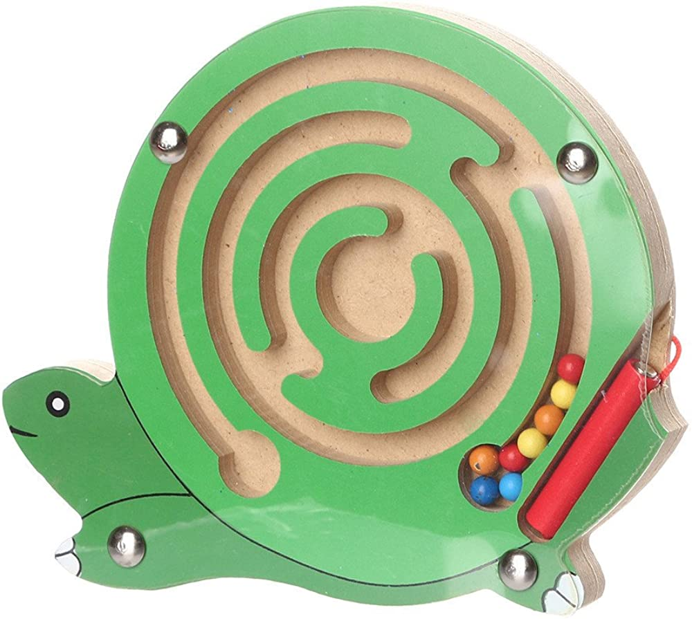 Preschool Learning Educational Toys DIGOOD Kids Magnetic Maze Toys Preschool Wooden Game Toy Intellectual Jigsaw Board for 3 Years