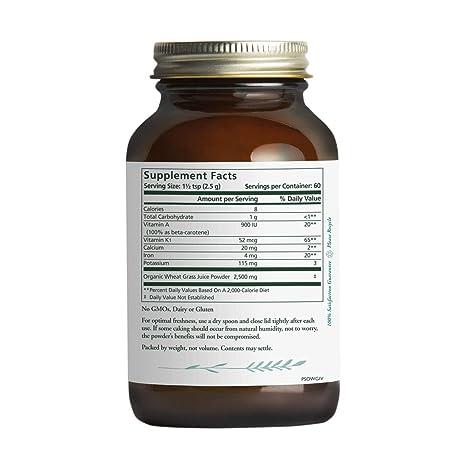 Amazon.com: Pure Synergy Organics zacate de trigo Jugo en ...