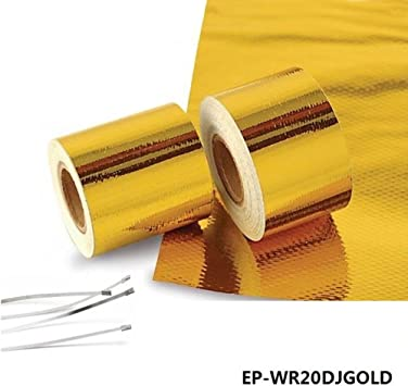 Epman 2 X 5 Meter Roll Self Adhesive Reflect a Gold Heat Wrap Barrier Performance Heat Protection Tape