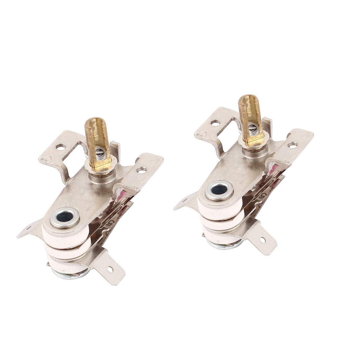 COMOK 2pcs AC 250V 125V 16A Adjustable Bimetal Cooker Temperature Heating Thermostat Controller Switch