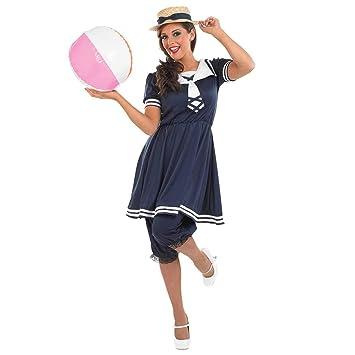 f262a5867a Fun Shack Old Time maillot de bain - Adulte Costume de déguisement - Medium  - 40
