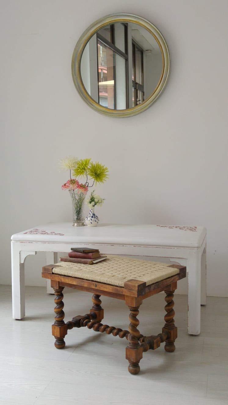 banco antiguo/cordado/taburete/taburete antiguo/Alto 40,5cm ...