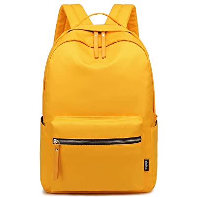 Abshoo Classic Nylon Lightweight Daypack Waterproof Women's Backpack Teen Girls School Bookbag Travel Bag (Yellow) | Kids' Backpacks