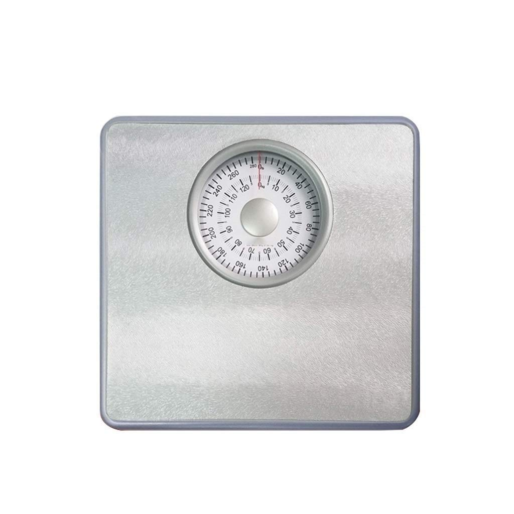 MUTANG Large Dial Pointer Mechanical Scale, Home Adult Weight Loss Health Scale Accurate Weight Scale Mini Scale, No Battery (Color : Gray)