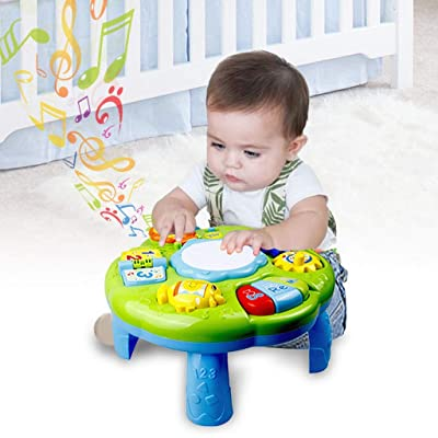 Ywoow Music Learning Table Baby Toys-Children's Electronic Educational Toys, Early Education Learning Desk Lighting Music Hand Drum Learning Desk Baby Baby Early Learning Smart US Warehouse Sent: Home & Kitchen
