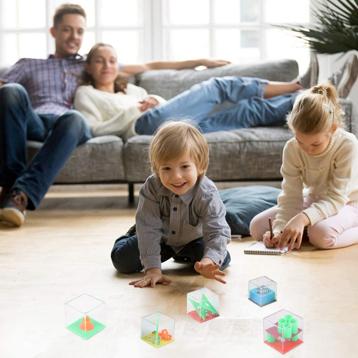 TOYANDONA Maze Puzzle Cube Set Mini Cube Puzzle Box Brain Teaser Games Educational Maze Toys for Kids Teens Party Favors