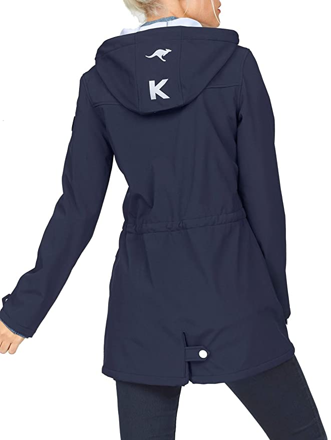 KangaROOS Damen Softshelljacke Long Softshell Jacke Mantel
