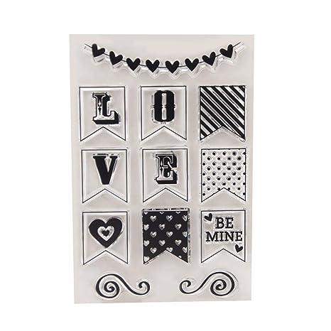 clear acrylic stamps Borrar Sellos para Scrapbooking y ...