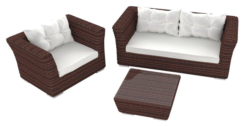 Artelia Rigantona S Luxus Lounge-Set, Gartenmöbel-Set für Garten, Terrasse und Wintergarten, braun