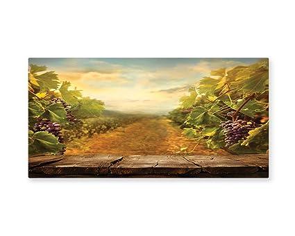 Amazon.com: Lunarable Vineyard Wall Art, Vineyard Ripe Grapes ...