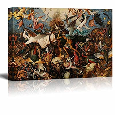 Dazzling Expert Craftsmanship, Original Creation, The Fall of The Rebel Angels by Pieter Brueghel The Elder Print Famous Painting Reproduction