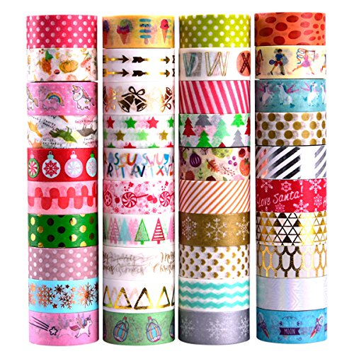 8mm Wide Decorative Masking Tape,Festival Gift Wrapping Party Supplies 24 Rolls Washi Tape Set