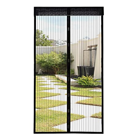 Extsud Magnetic Screen Door Keep Insects Out Mosquito Door Screen Easy To  Install Without Drilling Top
