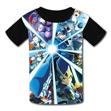 bd98c2ad Amazon.com: Custom Kids Megamanx Tee Shirt T-Shirt for Children Boys Girls:  Clothing