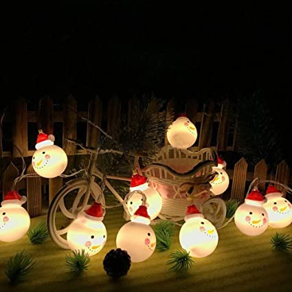 boluoyi outdoor lighting productschristmas lights colored10leds snowmansanta fairy light string
