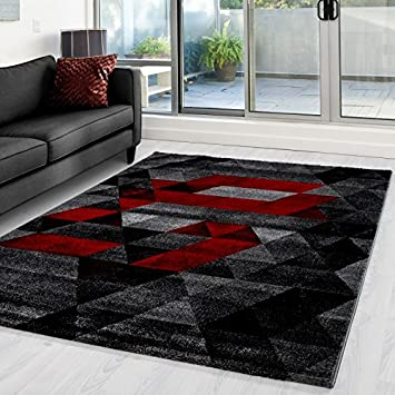 Nazar Lima Tapis Fibre Synthetique Rouge 80 X 150 Cm Amazon Fr