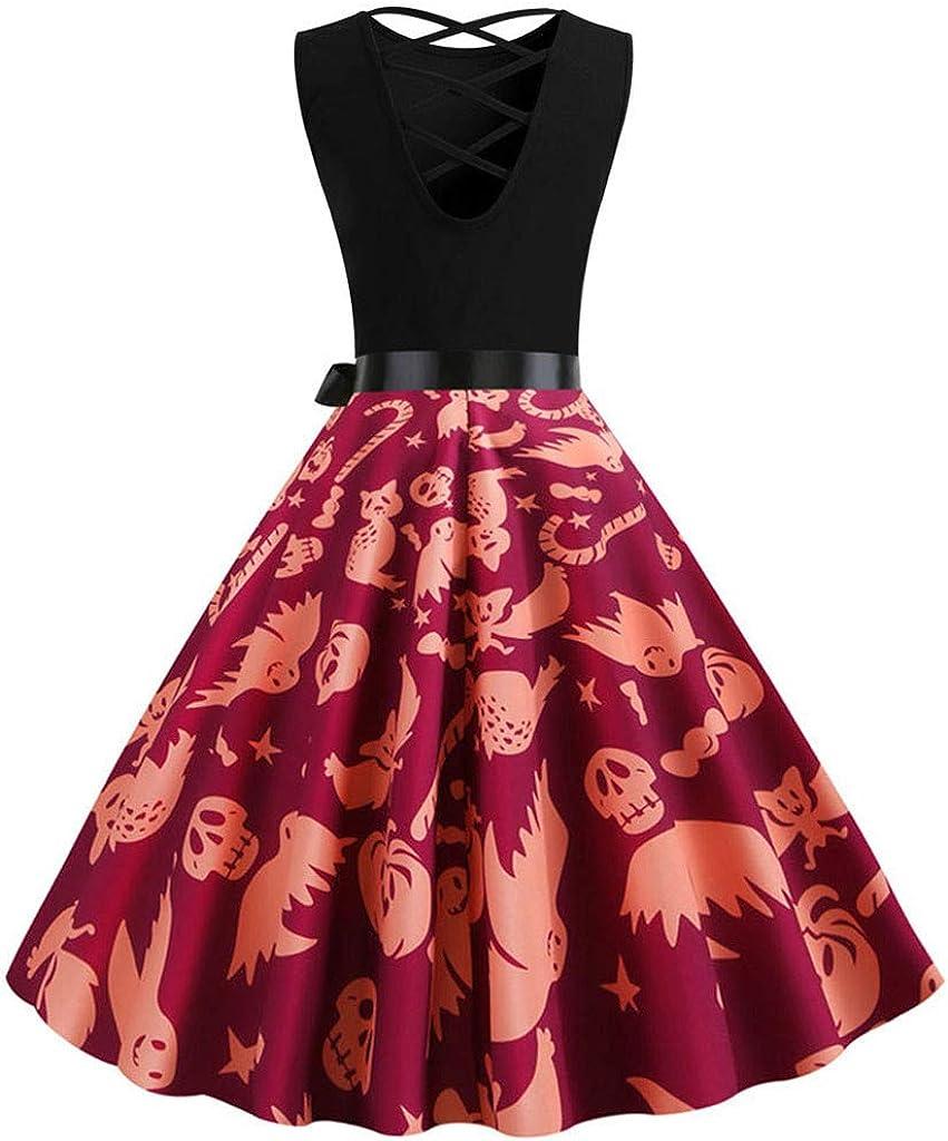 Darringls Vestidos para Mujer Halloween, Vestido Las Mujeres de ...