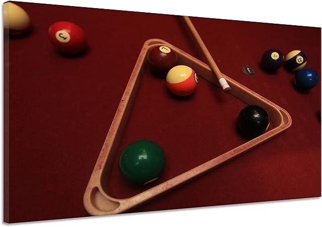 Bola de billar número pelotas KÖ Triángulo mesa números Lienzo Póster Impresión de dd0400, 180x120: Amazon.es: Hogar