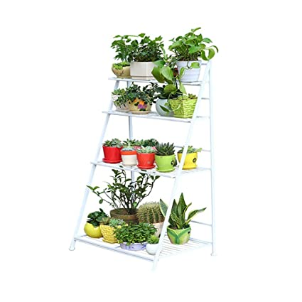 Genial FriendShip Shop Flower Racks  Garden Racks 3/4 Tier White Metal Plant Stand/