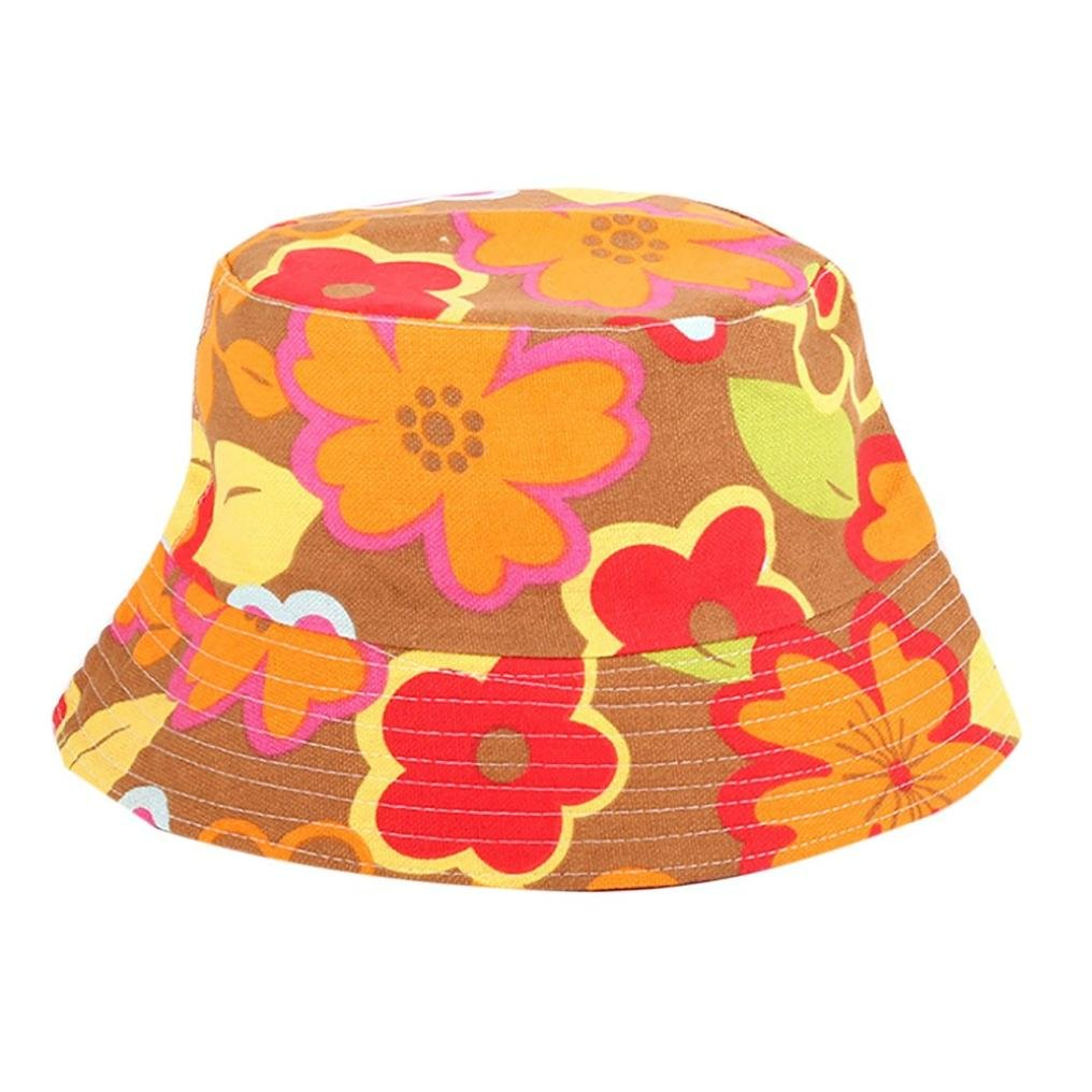 Bucket Hats Jamicy Women Men Fashion Flower Print Bucket Hats Casual Sports Hip Hop Fisherman Hat