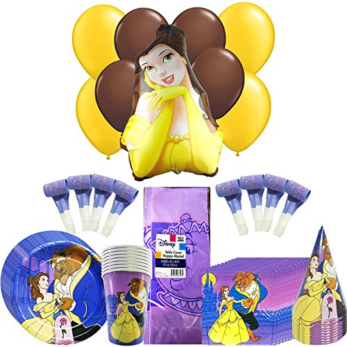 Disney Beauty & the Beast Party Pack 58pc (Cone Shaped Mylar Balloon)