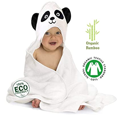 3a87fc5898 Amazon.com  Premium Organic Bamboo Baby Hooded Towel with Gift Box ...
