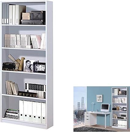 Estantería Alta 82 , estantería despacho Blanca, 201 cm (Alto ...