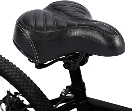"NEW Black Wide Comfort Beach Cruiser Bicycle Spring Saddle Seat 10/""by10/"""