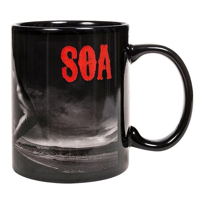 SONS OF ANARCHY - JAX SKULL DORSO - Oficial Taza - Negro ...