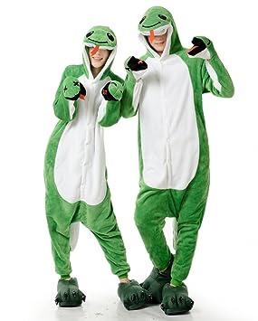 Serpiente Verde hombres adultos mujeres Unisex Animal Pijama Kigurumi traje de Cosplay traje de pijama Nonopnd