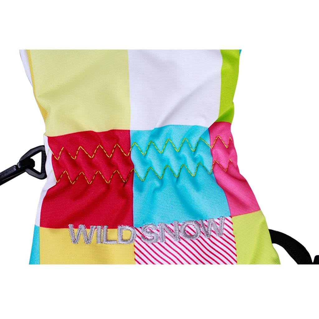 Gogokids Kids Ski Mittens Cycling Green M Snowboard Boys Girls Winter Warm Waterproof Windproof Gloves for Skiing