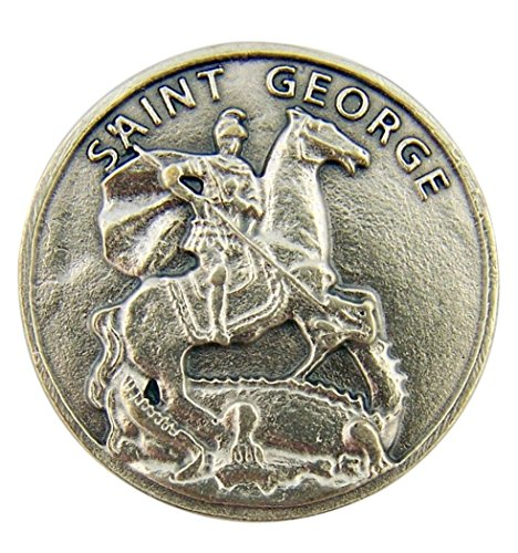- Religious Gifts Silver Tone Saint George and The Dragon Pocket Token Medal, 1 1/4 Inch