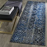 Safavieh Adirondack Collection ADR111G Silver and Multi Contemporary Bohemian Distressed Runner (2'6' x 18')