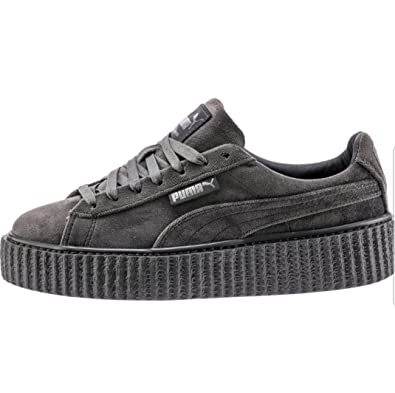 Puma X Fenty 100% Genuine Guaranteed Rihanna Creeper Velvet Trainers Shoes  Sneakers l364466-03 (Glacier Grey) Women s UK8 EUR 42  Amazon.co.uk  Shoes    Bags 61b759a1c