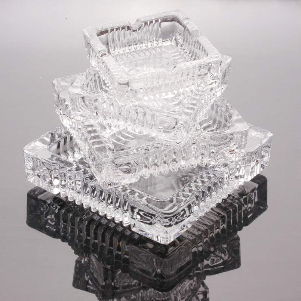 XDDAXYY Ashtrays,Square ashtray big ashtray crystal ashtray thick ashtray fashion personality creative ashtray-Transparent Diameter10.5cm