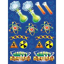 Creative Converting 318150 48-Count Sticker Sheets, Mad Scientist