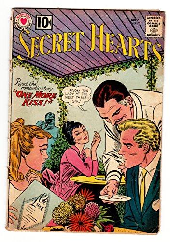SECRET HEARTS #75 comic book 1961-DC ROMANCE-OUTDOOR CAFE-CIGARETTE