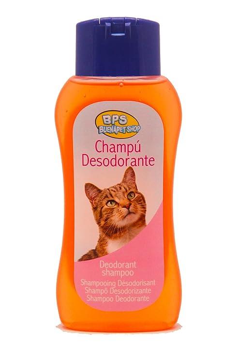 BPS R Champú Desodorante Shampoo para Gato Animales Domésticos Seguro y Natural Diseño para Eliminar Olor