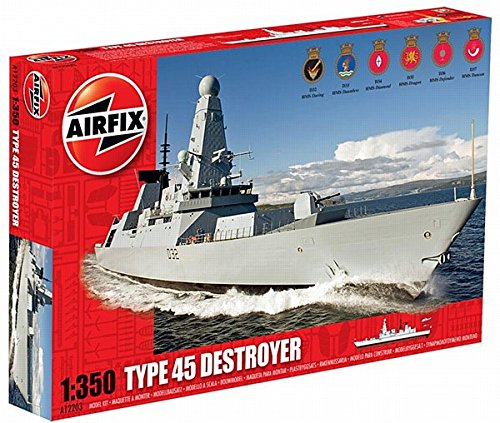 (Airfix HMS Daring Type 45 Destroyer Boat Building Kit, 1:350 Scale)