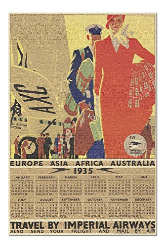 (Imperial Airways - 1935 Calendar Vintage Poster (artist: Purvis, Tom) England c. 1934 (20x30 Premium 1000 Piece Jigsaw Puzzle, Made in USA!))