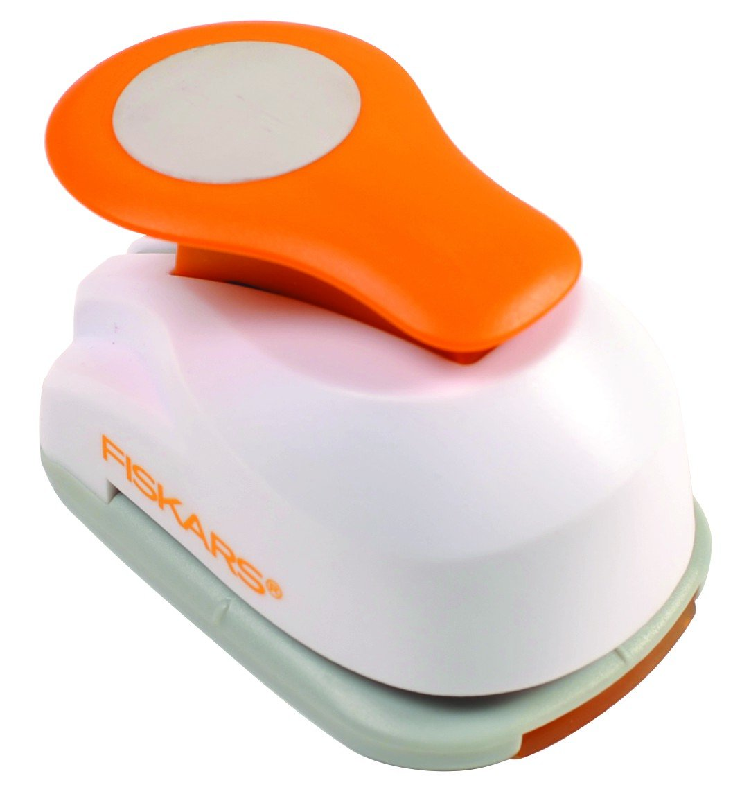 White Fiskars Lever Punch Small-Butterfly S