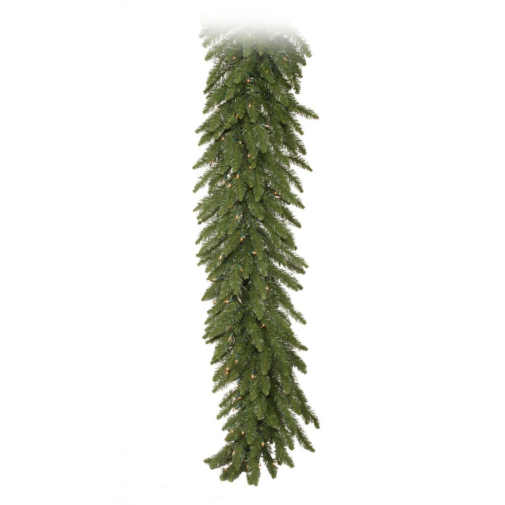 Vickerman Camdon Garland with Dura-Lit 400 Clear Lights, 50-Feet by 12-Inch