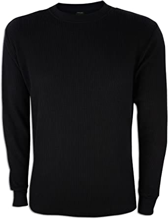 ChoiceApparel Mens Long Sleeve Thermal Waffle Pattern Crew Neck Shirts Many Colors