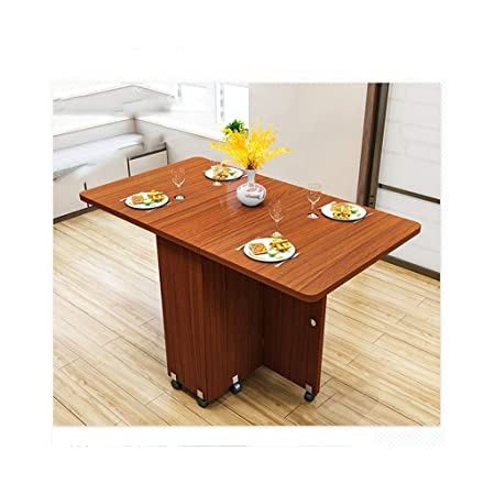 KXBYMXMesa Plegable Simple Mesa Plegable de Madera Desmontable ...