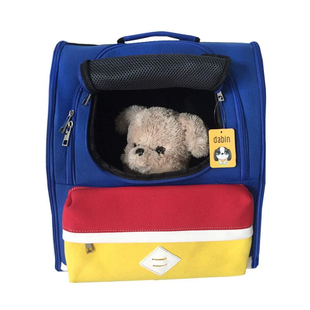 bluee 362141cm bluee 362141cm HYUE Picnic Shoulder Pet Bag Canvas Bag Breathable Cat Bag Pet Bag (color   bluee, Size   36  21  41cm)
