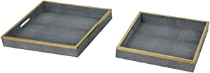 ELK Coral Gables Decorative Tray, Grey Faux Shagreen