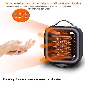 StageOnline Mini Estufa Eléctrica Portátil Calefactor Cerámico con Termostato Ajustable, Termoventilador Bajo Consumo para Casa