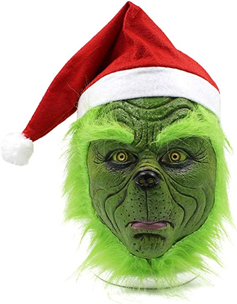 Miminuo Máscara Sombrero de Santa, Disfraces de Navidad, máscara ...
