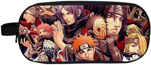 Anime Naruto Hokage Akatsuki Itachi Prints Estuche para Lápices Bolso para Niños Bolso De Doble Capa Papelería Multifunción Bolsas De Almacenamiento Bolsa De Cosméticos: Amazon.es: Hogar