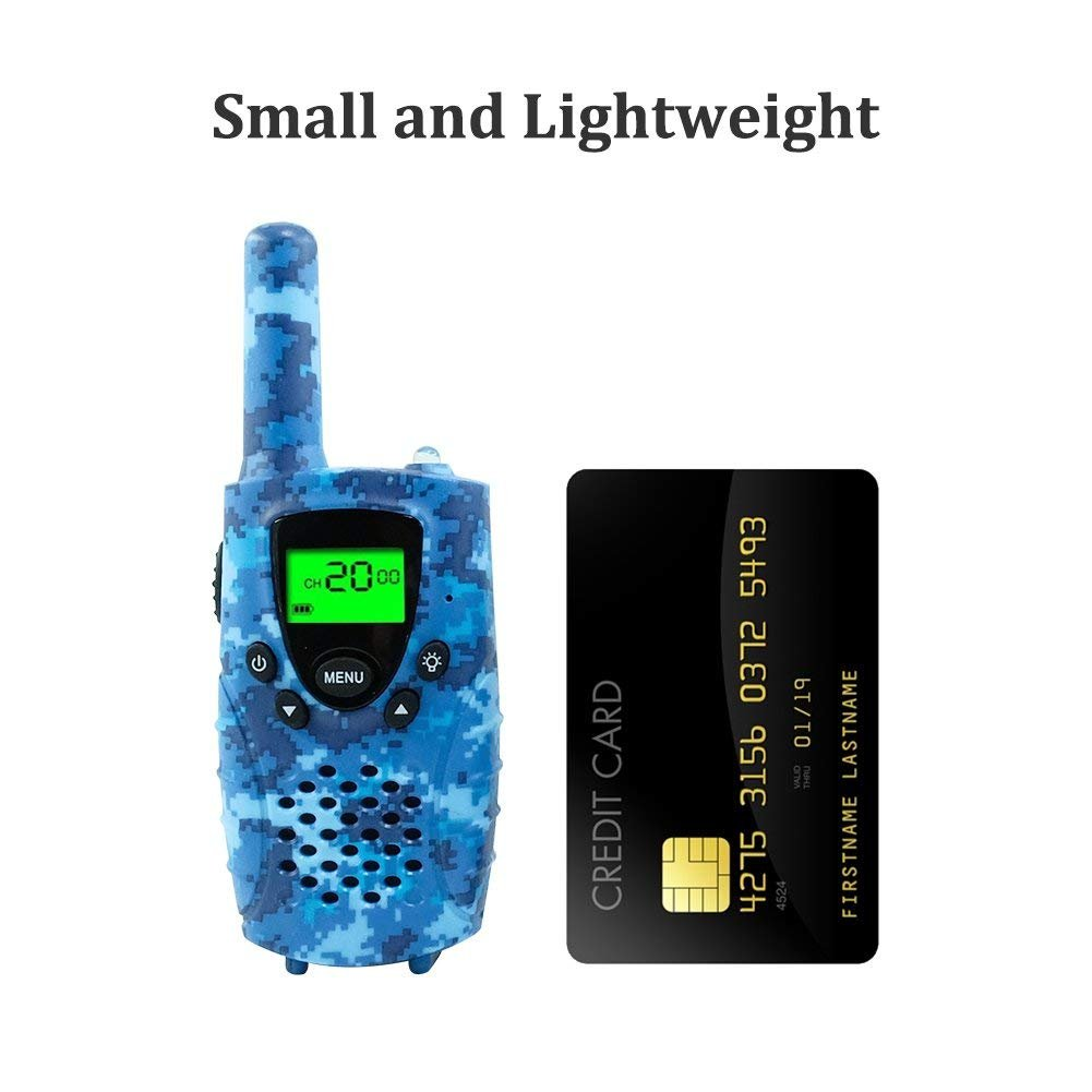 FAYOGOO Kids Walkie Talkies, 22-Channel FRS/GMRS Radio, 4-Mile Range Two  Way Radios with Flashlight and LCD Screen, and Toys for 3-12 Year Old Boys